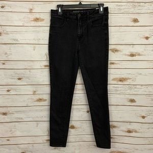American Eagle Stretch Black Hi-Rise Jegging Jeans